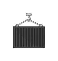 Hook lifts wagon icon black monochrome style vector