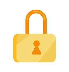 Data storage sign symbol icon lock isolated vector