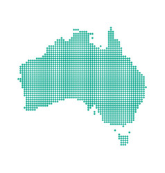 Abstract australia map dotted vector