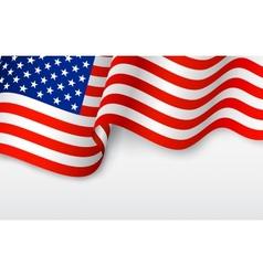 Wavy american flag vector