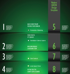 Modern green design template vector