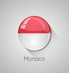 European flags set - monaco vector