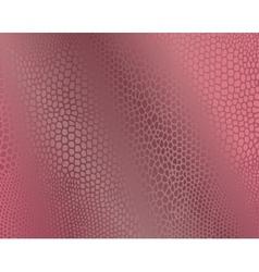 Pink snake skin imitation background vector image