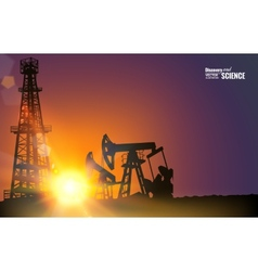 Oil field vector image