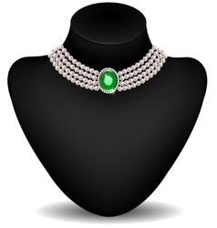 Necklace on a mannequin vector image