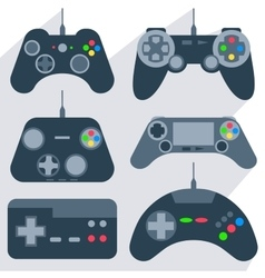 Set gamepad icons vector