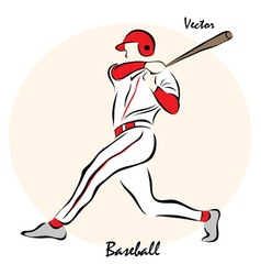 Showing a baseball vector