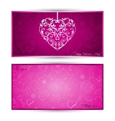 Card with heart with sketch symbols vector image
