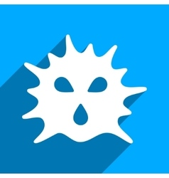 Virus structure flat square icon with long shadow vector