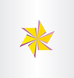 abstract windmill symbol design vector image
