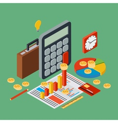 Business report financial statistic concept vector image vector image