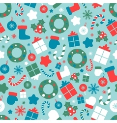 Christmas seamless pattern with different sizes vector image