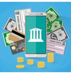 concept for mobile banking vector image vector image