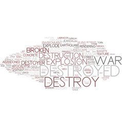 Destroy word cloud concept vector