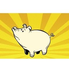 Funny cute pig pop art vector image