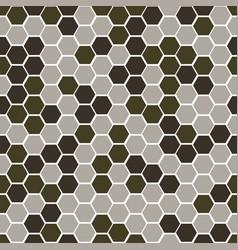 gexagonal camouflage digital pattern vector image