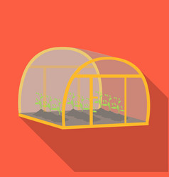 Greenhouse single icon in flat style greenhouse vector
