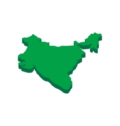 India map icon isometric 3d style vector
