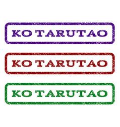 ko tarutao watermark stamp vector image