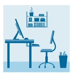 Office workplace vector image vector image