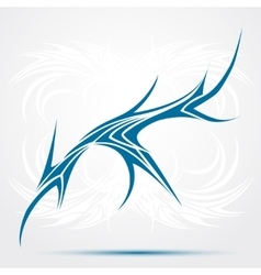 Sharp tribal tattoo vector image