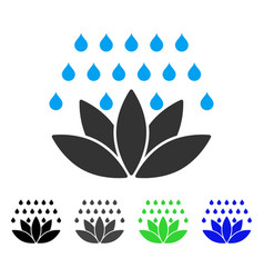 Spa shower flat icon vector