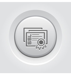 Ssl certificates icon flat design vector
