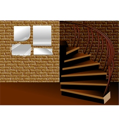 stairs and advertisement vector image vector image