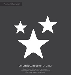 Stars premium icon white on dark background vector