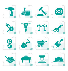 stylized building and construction icons vector image