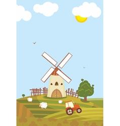 Summer Windmill vector image
