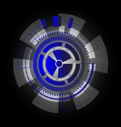 Technology information gears abstract background vector image