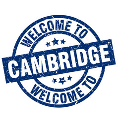 Welcome to cambridge blue stamp vector