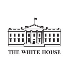 white house icon vector image vector image