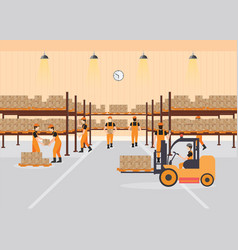 workers working at warehouse vector image