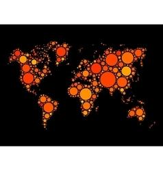 World map mosaic made of dots vector image
