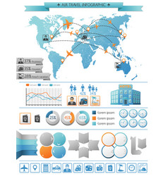 Air travel infographic concept vector