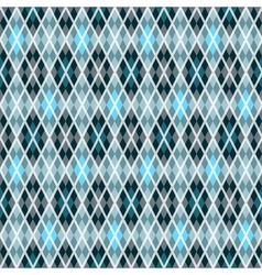 Blue and gray seamless checkered pattern vector image