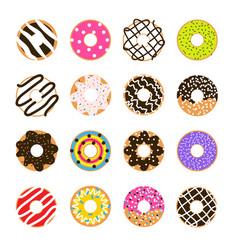 Donut set isolated on white doughnut vector