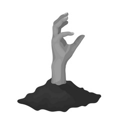 Hand single icon in monochrome stylehand vector