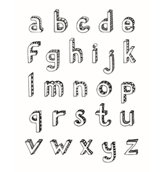 Sketch alphabet small letters vector