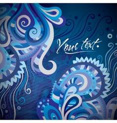Abstract decorative card design vector