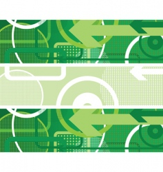 circles background green vector image