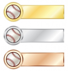 Baseball medals vector