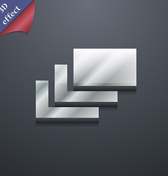 Layers icon symbol 3d style trendy modern design vector