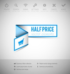 Banner with commerce business content vector