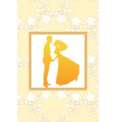 funky wedding invitation vector image