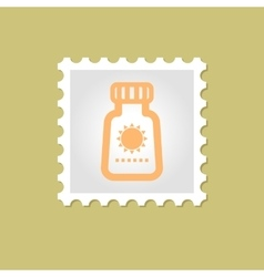 Sunscreen stamp vector
