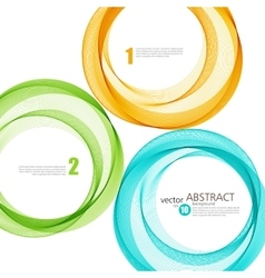 Abstract background color ring vector