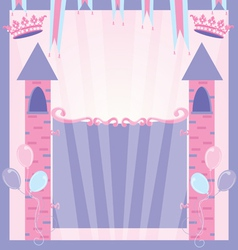 Pretty princess party vector